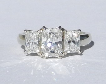 GIA Certified 2.26 Carat Diamond Engagement Ring 18kt Solid Gold W/ GIA Laser Inscription