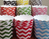 Chevron Small Baking Cups - Perfect For Small Cupcakes, Muffins,Nuts,Veggies,Candy (Set of 10)