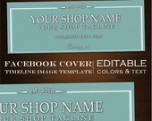 Facebook Timeline Cover Image - Customizable Premade Aqua Foundry Design- DIY Online Editor Masculine Clean fdr