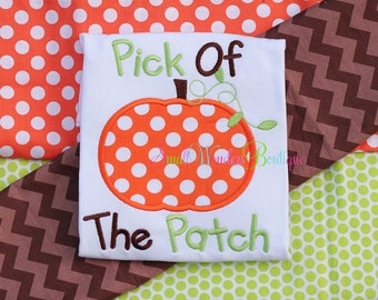 Pick of The Patch Embroidered Shirt - Pumpkin Shirt - Thanksgiving Shirt - Pumpkin Patch Shirt - Holiday Shirt - Pumpkin Picking Shirt