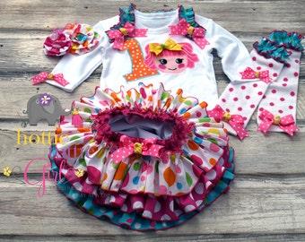 Lalaloopsy Birthday, Ruffle Bloomer, Lalaloopsy Skirt Lalaloopsy Dress Pageant Lalaloopsy Theme Party, Baby Toddler Hottie Tottie Girl A3462