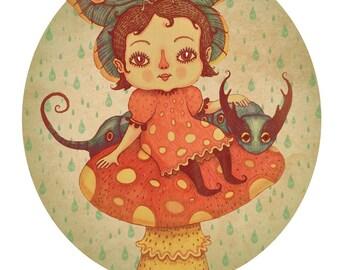 Adora in Wonderland - A4 art print