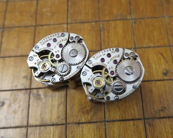 Wittnauer 5D Watch Movement Cufflinks. Great for Fathers Day, Anniversary, Groomsmen or Just Because.  #715