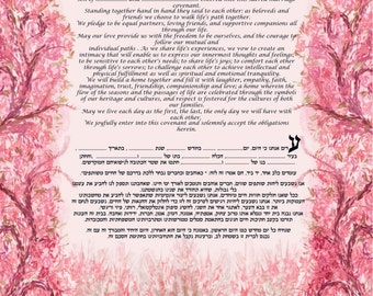Impressionnists ketubah reproduction- print of a watercolor that have been digitaly modified - custom- express mail