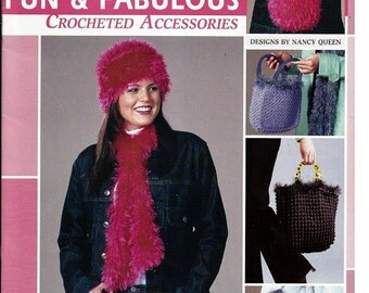 Fun & Fabulous Crocheted Accessories  / Crochet Pattern Book  /  Leisure Arts 3688