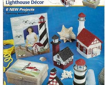 Lighthouse Decor Plastic Canvas Pattern book  Annies Attic 53000