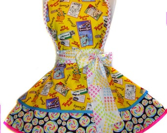 Tootsie Roll Candy Retro Pinup Apron:
