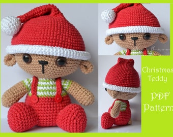 Christmas Teddy Amigurumi Pattern