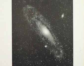 1905 Space Nebula Original Vintage Astronomy Planet Astrology Print