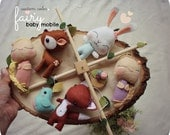 Woodland Baby Mobile - Crib Mobile - Forest Fairy - Woodland Nursery - Fox and Bird - Deer and Rabbit