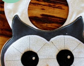 Owl Baby Bib Sewing Pattern, Instant Download for owl bib tutorial PDF and e-pattern