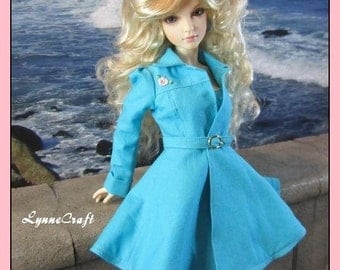 Aqua Coat for your MSD Iplehouse JID Girls, and Other Similar Sized  Dolls. . OOAK