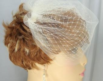 Wedding Veil, Double Layer Veil, Russian Veiling Illusion Tulle Bridal Veil, Bridal Veil, REX14-2062
