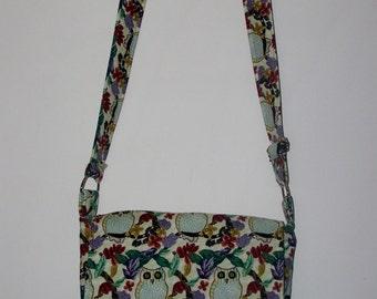 Owl Messenger bag with adjustable strap