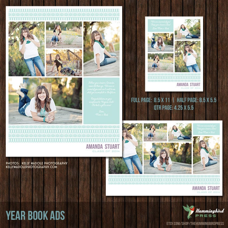 Yearbook ads senior ads graduation ads 3 by thehummingbirdpress for Yearbook ad templates free