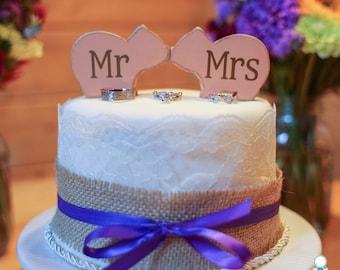 mr and mrs Love Pig cake topper, custom, love Pigs, party favor, shower favors, wedding, home decor, spring decor