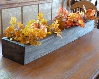 Rectangular Box, Primitve ,Decor, Wooden Box, Center Piece, Wedding Decor, Wooden Planter Box
