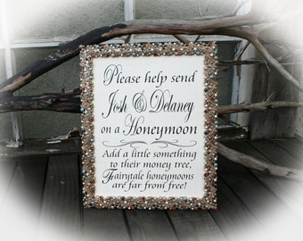 NOT a printable- 8 x 10 Honeymoon Fund Sign- Money Tree Sign