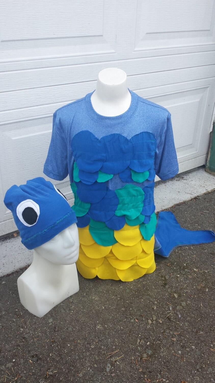 Upcycled Steampunk Clothing Custom Bluegill Fish Costume