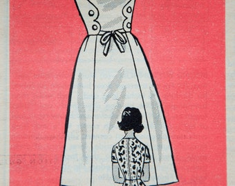 "1960's Mail Order Misses' Sleeveless Dress with Waist wrap and bow detail pattern - UNCUT - Bust 38"" - No. 4795"