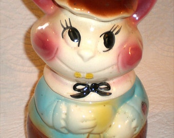 Bunny Rabbit Cookie Jar; Nice Eyes