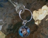 Miniature Painting Custom Pet Portrait Keychains-Dogs-Cats-Horses-Animals-Pets-Shepard-Spaniel-Chihuahua-Pitbull-Cat-Pet Memorial
