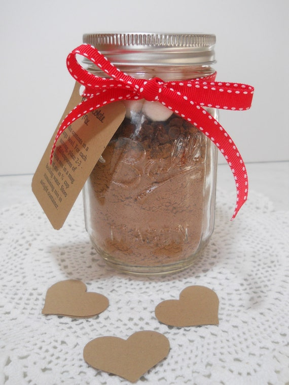 Hot Chocolate Mix in a Jar Hot Cocoa in a Mason Jar Valentine's Day ...