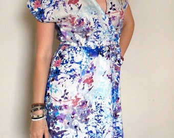 Blue, Purple, Pink Floral Sundress Size:Sm/Med