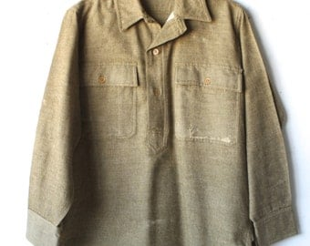 FADED 60s wool vintage MILITARY navy jacket coat