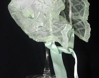 The Madeline Green Baby Bonnet, Easter Bonnet
