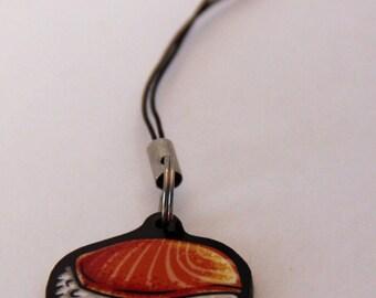 Salmon Sushi Phone Charm
