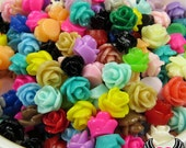 7mm Resin Rose FLOWER CABOCHONS Mixed, Tiny Rose Cabochons, Small Flower Cabochon