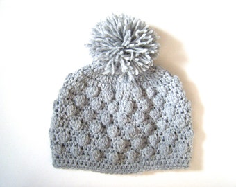 PATTERN: Bobble Beanie, Easy crochet hat pattern, PDF, 7 sizes, unisex, InStAnt DiGiTaL DoWnLoAd, Permission to Sell