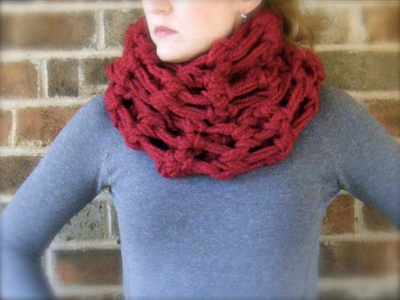 Crochet Shawl Patterns Bulky Yarn : DIY PATTERN: The Oslo Cowl crochet pattern PDF & ViDeO LiNk