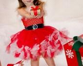 Santa Baby  dress sizes 6-9m, 9-12m, 12-18m, 18-24m, 2t, 3t, 4t, 5t, 6