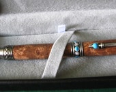 Turquoise & Mesquite Burl Southwest Pen – Gift Boxed