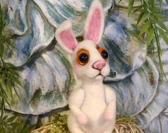 Bunny Easter Bunny Needle Felted One of a Kind handmade Bunny