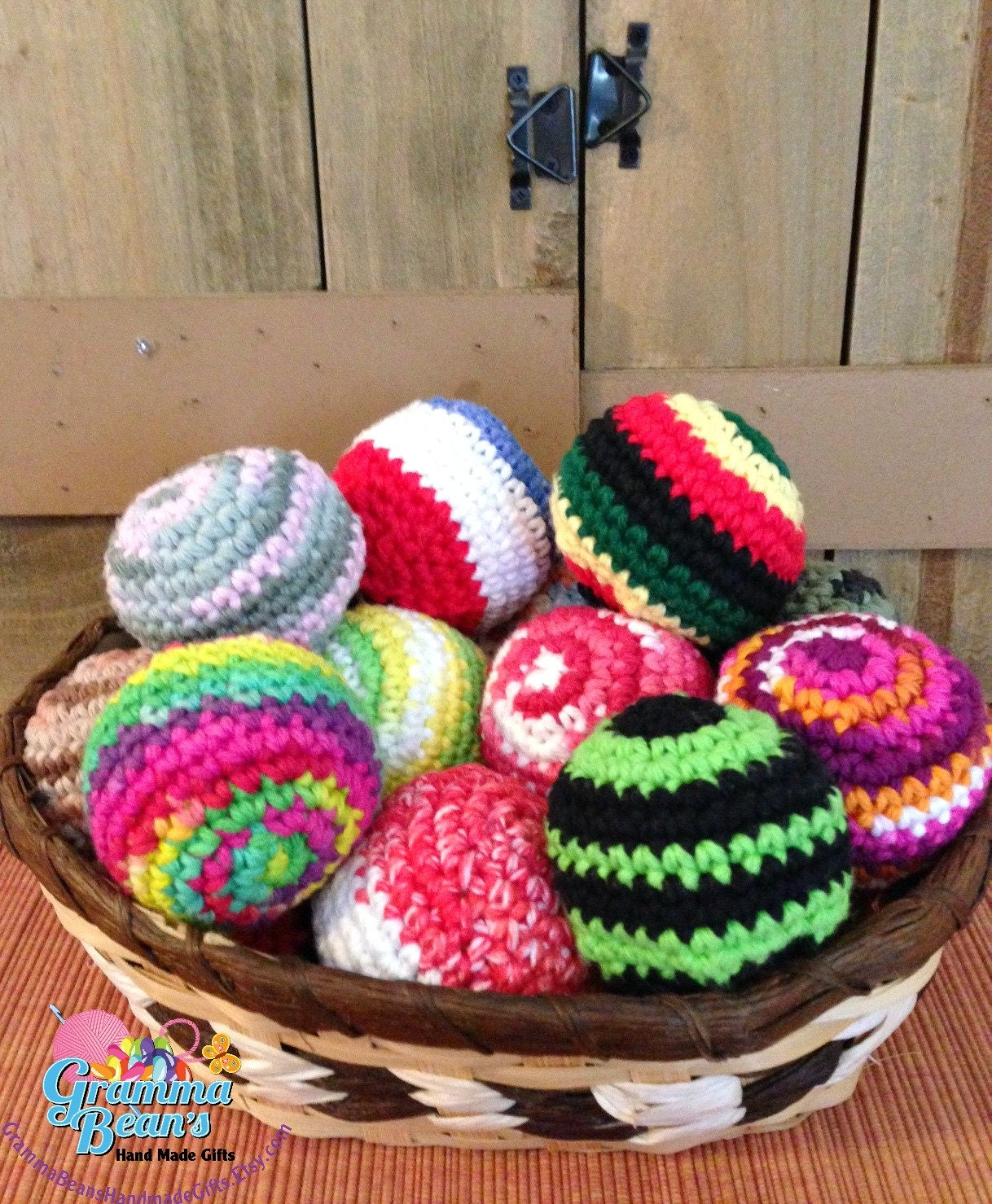 Crochet Beach Bag Pattern : Hacky Sack Bean Bag Foot Bag Pattern