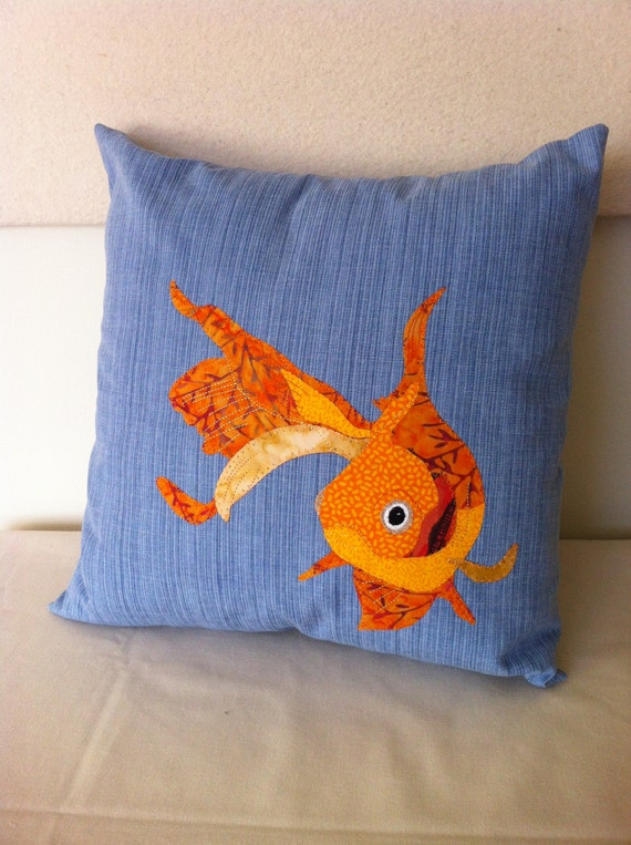 Gorgeous goldfish pillow