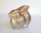 Metal Sculpture of a Bunny