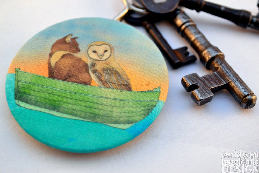 owl and the pussy cat key ring bottle opener. Black Bedroom Furniture Sets. Home Design Ideas