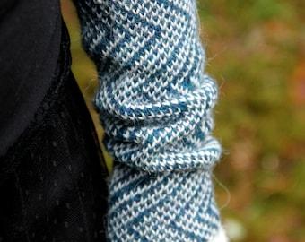 Knit fingerless gloves, alpaca wrist warmers, womens hand warmers