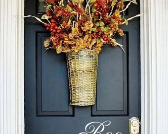 HALLOWEEN DOOR DECAL, Front Door Decal, Personalized Vinyl Lettering,  Boo Decal, Vinyl Text