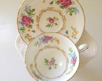 Vintage English Chelsea Fine Bone China Tea Cup & Saucer Tea Party