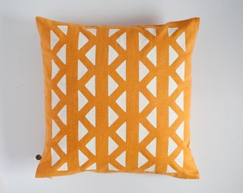 Yellow Chevron pillow cover,yellow cushion cover, yellow decorative pillow, chevron accent pillow in yellow, yellow sham custom size  0148