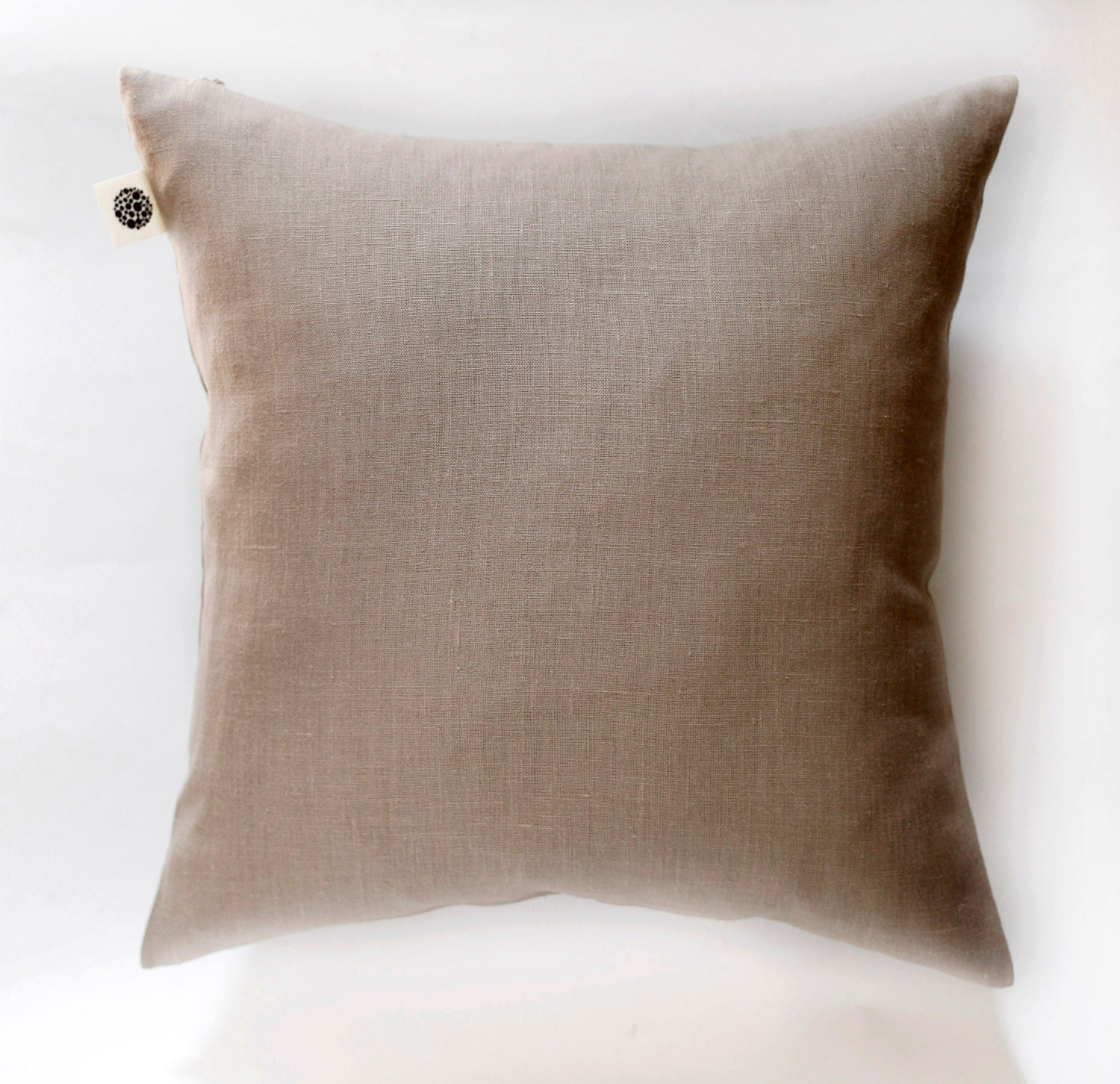 Taupe decorative pillow cover solid color pillows case