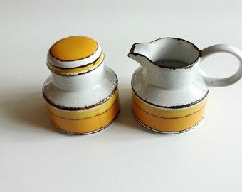 Midwinter Sun Creamer and Sugar Bowl