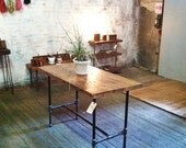 Rustic Industrial Stationary Table | Work Station | Display Table | Dining Table | Kitchen Island