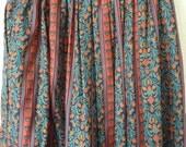 SALE Floral Folk Midi Skirt