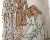 Vintage Kwik Sew 1201 Ladies' Misses' Robe Dressing Gown Pattern Size S M L KS1201